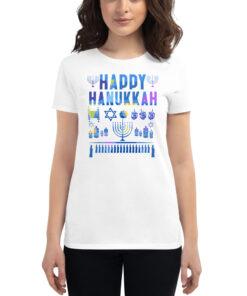Happy Hanukkah Women's short sleeve t-shirt