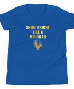 Shine Bright Like A Menorah Youth Short Sleeve T-Shirt